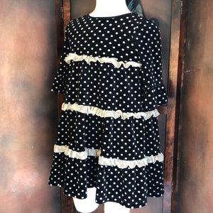 Hanna Andersson Child's Dress Size 120 Velvet Dots